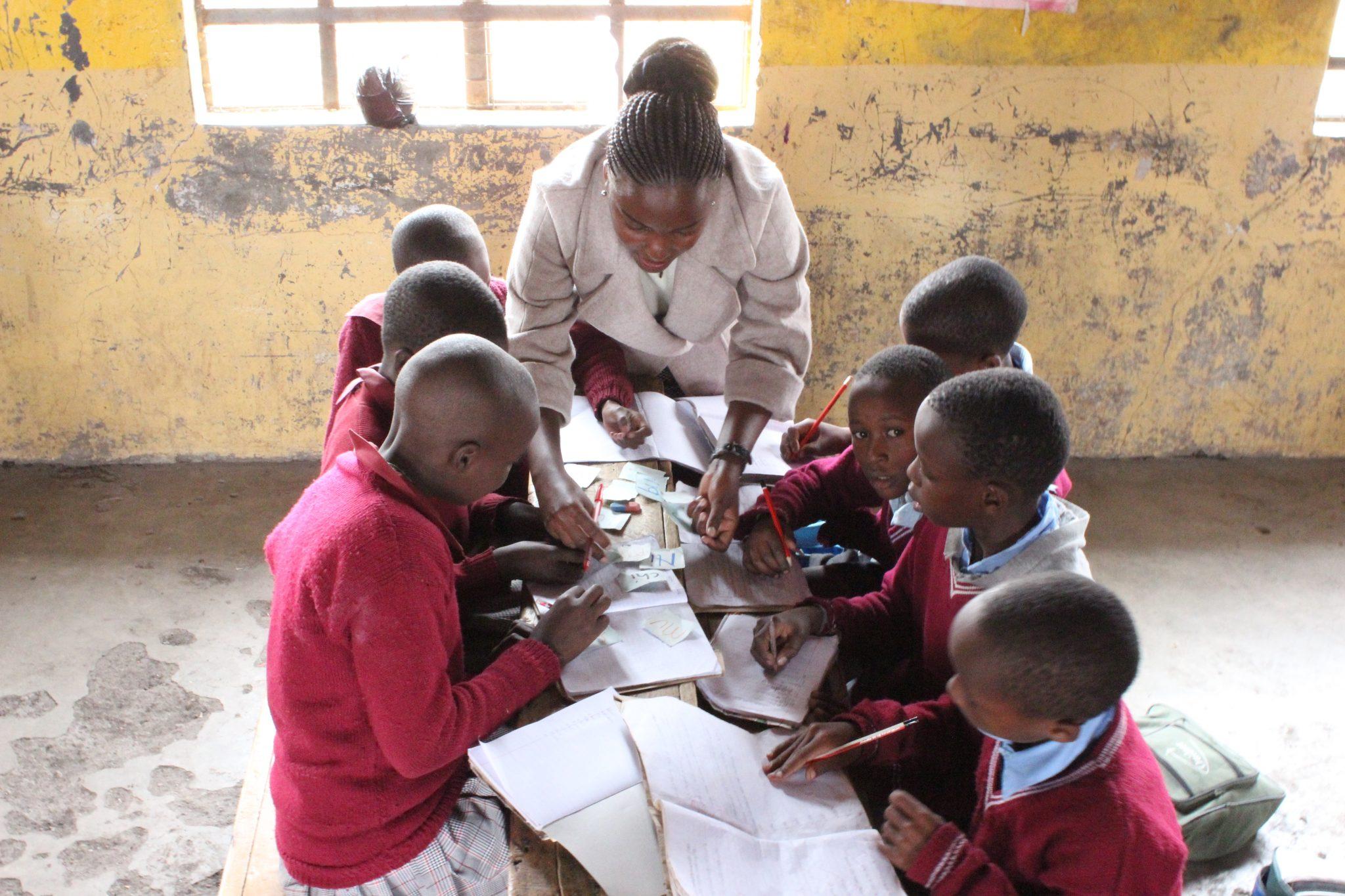 G-United volunteer teaching